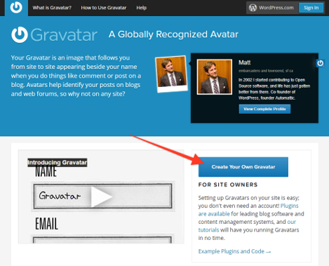 WordPress003, Creating a Gravatar